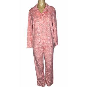 Kim Rogers Intimates Sleep Pink Pajamas Fleece S